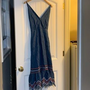 Free People New With Tags Denim Dress